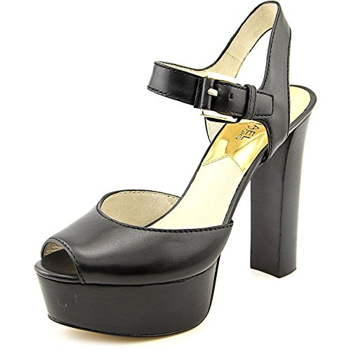 Michael Michael Kors London Open Toe Donna US 8 Nero Tacchi Alti