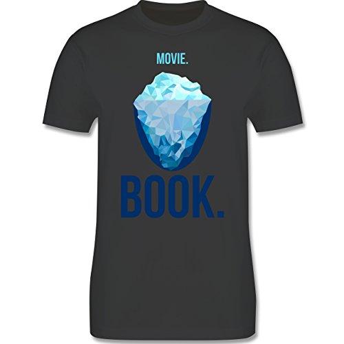 Nerds & Geeks - Movie vs Book - Herren Premium T-Shirt Dunkelgrau