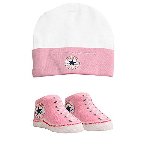 Converse Babymütze und Socken, Alter: 0-6 Monate, Rosa - Rose - Größe: 0-6 Months