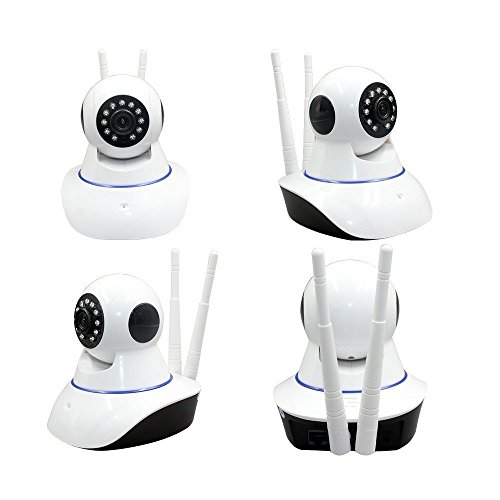 Samsung Galaxy A3 Compatible Wireless HD IP Wifi CCTV [Watch ONLINE DEMO right now] indoor Security Camera Live vedio in mobile or Laptop (support upto 128 GB SD card) (white Color) Model:D8810 By jyoti