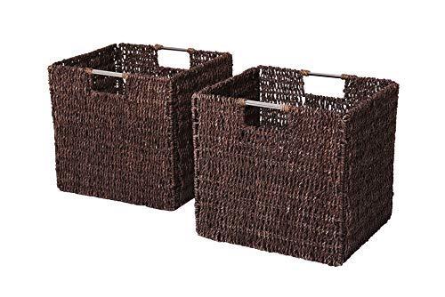 Vivanno 2 Regalkörbe aus Seegras f. Ikea Expedit/Bonde braun