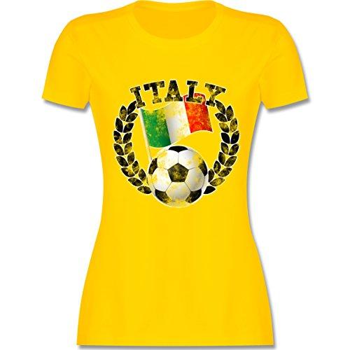 EM 2016 - Frankreich - Italy Flagge & Fußball Vintage - tailliertes Premium  T-Shirt