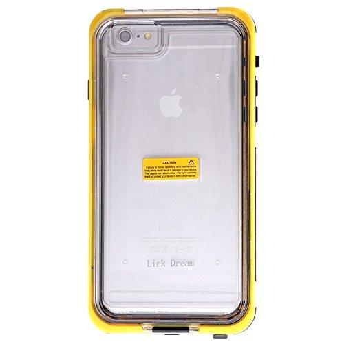 Phone Case Coque cover, Pour iPhone 6 Plus / 6s Plus, Link Dream Housse de protection imperméable à l'eau avec lanière ( Color : Yellow ) Yellow