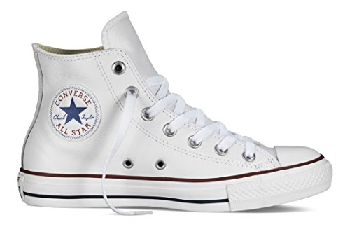 Converse Chucks Taylor All Star Hi Leder, Unisex - Erwachsene Sneaker, weiß (optical white), 44 EU (Casual Leder Schuh Basic)