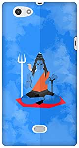 The Racoon Lean shiva minimal blue hard plastic printed back case / cover for Sony Xperia Miro