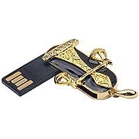 USB Memory Stick Cute Impermeable USB 2.0 Flash Drive Metal Crystal Libra Báscula Diseño con Llavero