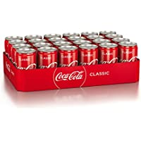 Coca-Cola Classic / Pure Erfrischung mit unverwechselbarem Coke Geschmack in stylischem Kultdesign / 24 x 250 ml Dose