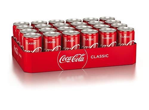 Coca-Cola Classic, Pure Erfrischung mit unverwechselbarem Coke Geschmack in stylischem Kultdesign, EINWEG Dose (24 x 250 ml)