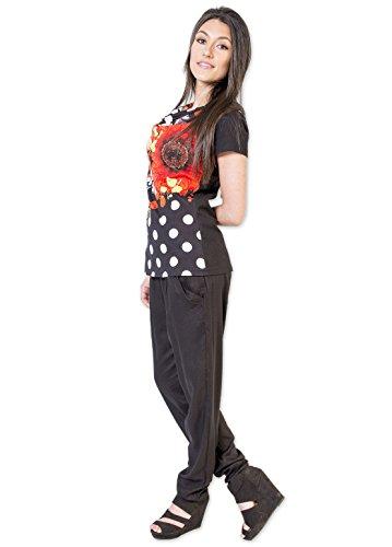 Coton Du Monde -  Maglia a manica lunga  - Donna Multicolore