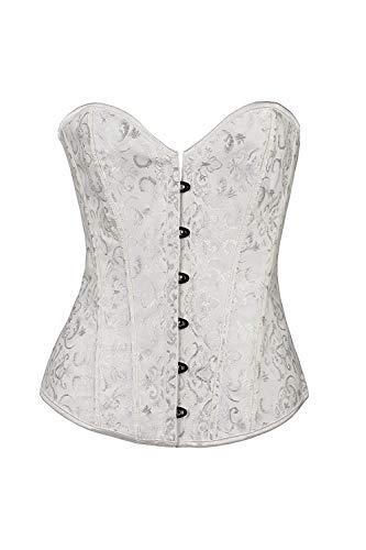 Kostüm Korsett Benutzerdefinierte - BH-Hemden für Damen Kostüme für Erwachsene Sexy sexy sexy Korsett Bauch Taille Körper Körper Stahl benutzerdefinierte weiß S