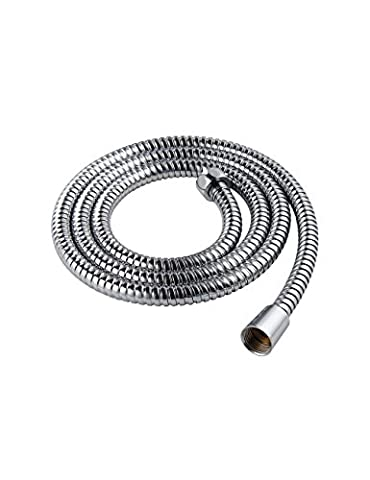 Aquatimez-Replacement Shower Hose,1.5M(5.9-Inch) Shower Bath Flexible Hose-Double Interlock Anti-Kink Stainless Steel Hose (Polished Chrome)