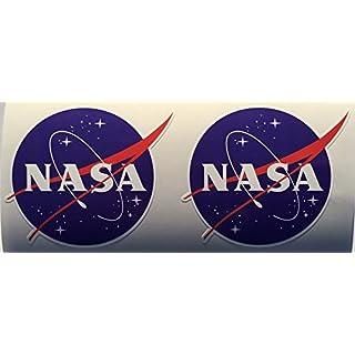 SBD Decals 2 NASA für Luft- und Raumfahrt Runde Gestempelschnitten Abziehbilder