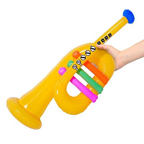 Instrument en caoutchouc à gonfler Trompette gonflable 60 cm Instrument à vent Trompette gonflable de fête accessoire clown Instrument de musique pour cirque Article de farce et attrape karaoké