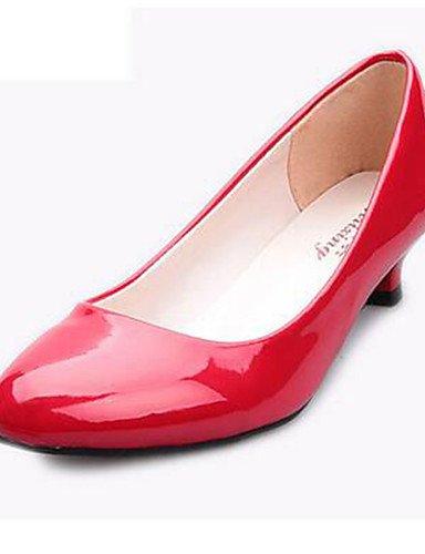 WSS 2016 Chaussures Femme-Bureau & Travail / Décontracté-Noir / Rouge / Blanc-Kitten Heel-Talons-Talons-Similicuir white-us5 / eu35 / uk3 / cn34
