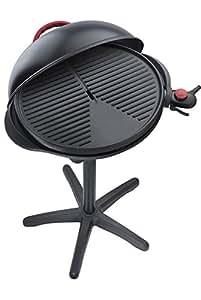 Steba VG 300 elektrischer Barbecue-Hauben-Grill, schwarz / rot