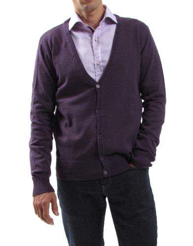 ELLY puroEGO veste en maille pour homme - Violet