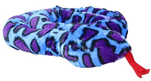 Juguetes suaves - - Animal Planet 67 pulgadas (170 cm) extra grande de la felpa azul y púrpura de la serpiente Los animales de peluche