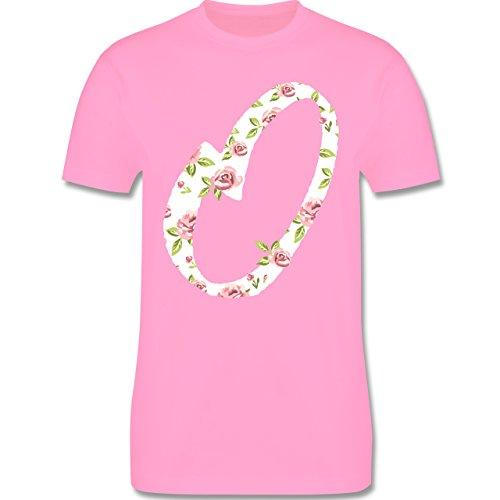 Anfangsbuchstaben - O Rosen - Herren Premium T-Shirt Rosa