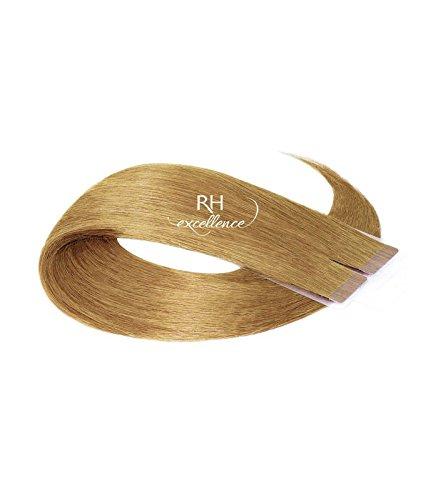 Extension a bande adhésive - Extension cheveux Blond clair doré cendré - 35/40 cm