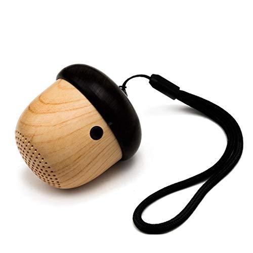 ZJHNZS Bluetooth Lautsprecher Neue Mini Bluetooth Lautsprecher Wireless Sound tragbare Lautsprecher Nette nuss einzigartiges Design Geschenk gebaut in mic freisprecheinrichtung anruf, gelb