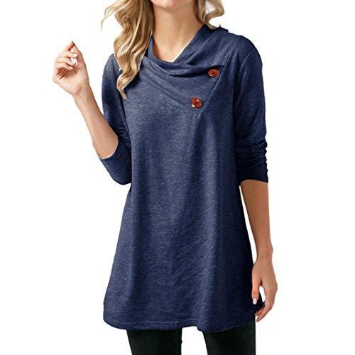 Xiantime Damen Bluse Shirt Vintage Locker O-Ausschnitt Shirts Top Schulterfrei Kurzarm Tunika S-XL
