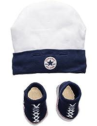 Converse Hat and Bootie, Conjunto de Ropa para Bebés, Multicolor (Navy), 0/6 Meses (Talla del Fabricante: 0-6M)
