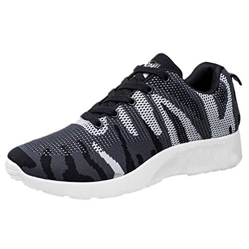 Zapatillas Deporte Cordones Malla Hombre Casual Zapatos