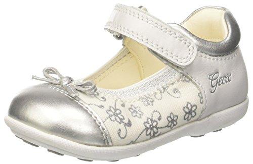 Geox B Jodie B, Ballerine Bimba, Bianco (White/Silver), 25 EU