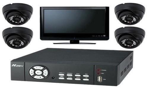 TC40-& Passform von 4x CCTV Kameras & 250gb H.264DVR Smartphone/Internet Zugang Sicherheit System 250 Gb Dvr