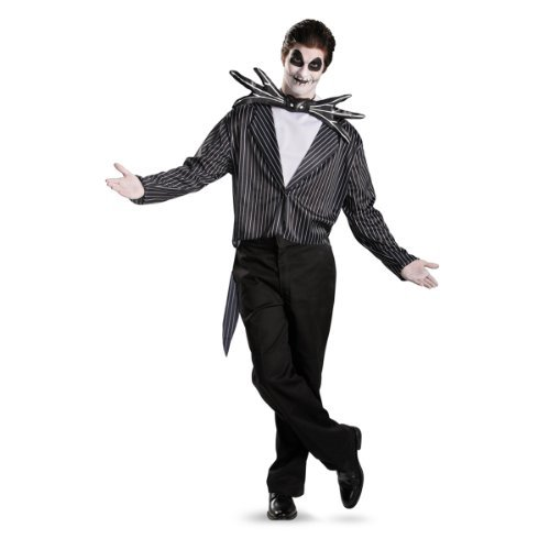 Disguise Men's Tim Burton's The Nightmare Before Christmas Jack Skellington Classic Costume, Black/White, 38-40