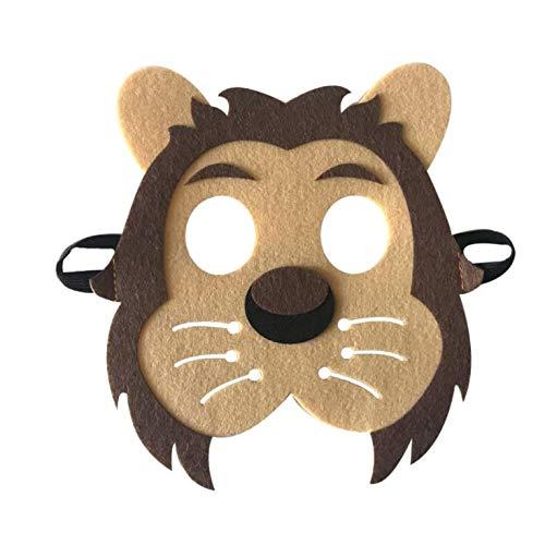 (Apioffer Umwelt-Tiere Kinder Maske Kostümfest Halloween-Weihnachtsfeier 1St (Lion Papa))