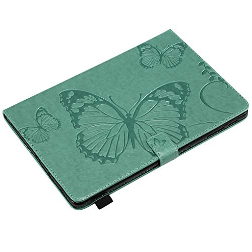 BoburyL Ersatz für Samsung Galaxy T830 T835 Schmetterling Emboss Mappe PU-Leder-Tablette-Kasten Stoß- Ständer Magnet Flip-Cover