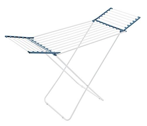 Meliconi stendibiancheria lock classic, 18mt, acciaio resinaro, blu avio, 56 x 172 x 110 cm. made in italy