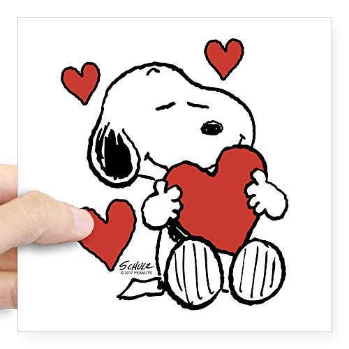 Snoopy On Heart Large - 5x5 weiß ()