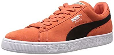 Puma Men's Suede Classic + Nasturtium-Black Leather Running Shoes - 13UK/India (48EU)