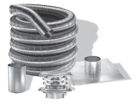 6'' DuraFlexSS 304 Basic Kit with 25' Flexible Stainless Steel Chimney Liner - 6DF-30425K