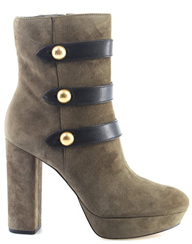 Women's Shoe Heel Boots MICHAEL KORS Maisie Ankle Boots Leather 40F7SHE6S Olive