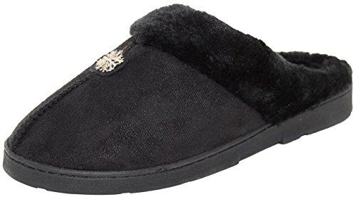 Le Pantofole nero Calde Imitazione Per Coccole Donne Pelliccia rESAEq