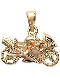 Colgante chapado en oro Mujer/Hombre–Larg: 18mm/alto: 12mm–chapado en oro (moto)