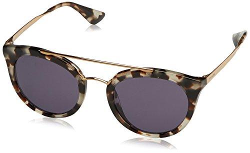 Prada Damen 0PR23SS UAO6O2 52 Sonnenbrille, Weiß (White Havana/Violet),