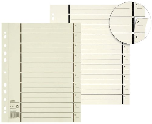 Preisvergleich Produktbild Elba 400004671 Trennblatt | A4 mit Perforation | aus 230 g/m² Kraftkarton | chamois