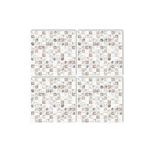 Boubouki - Wasserabweisende Fliesenaufkleber für Bad und Küche - Pearl 01-20x20cm