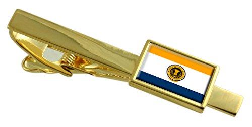 San Jose City USA Flagge Gold Krawattenclip -