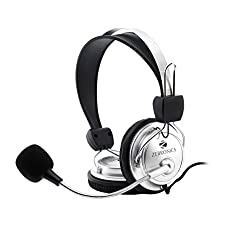 Zebronics ZEB-1001HMV Headset Headphone 3.5mm w/ Mic | Soft Padded Cup over Ear