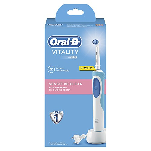Oral-B - Cepillo de dientes recargable Vitality Sensitive Clean - con temporizador integrado
