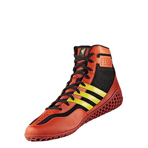 Adidas Tapis Wizard. 3 Wrestling Chaussures, Collegiate Bordeaux/Noir/doré, 4 m US - - Energy Red/Yellow/Black,