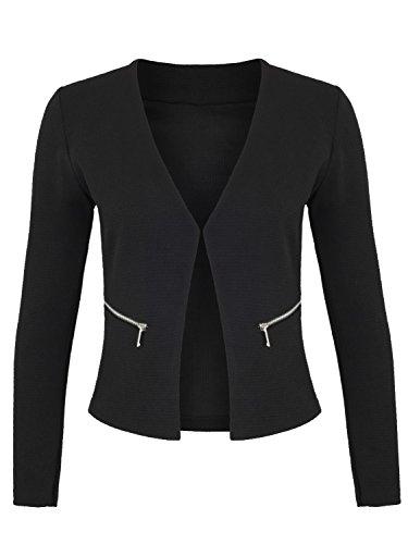 Damen Blazer mit Taschen ( 382 ), Farbe:Schwarz;Kostüme & Blazer für Damen:40 / L