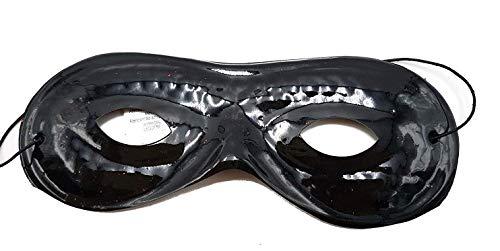 Piccoli monelli maschera zorro bambino mascherina carnevale nera adatta anche per pulcinella e uomo mascherato in pvc