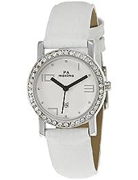 Maxima Attivo Analog White Dial Women's Watch - 27120LMLI