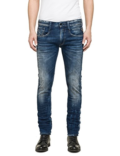 Replay - Anbass, Jeans Da Uomo, Blu (Blue Denim 650-9), W36/L32 (36)